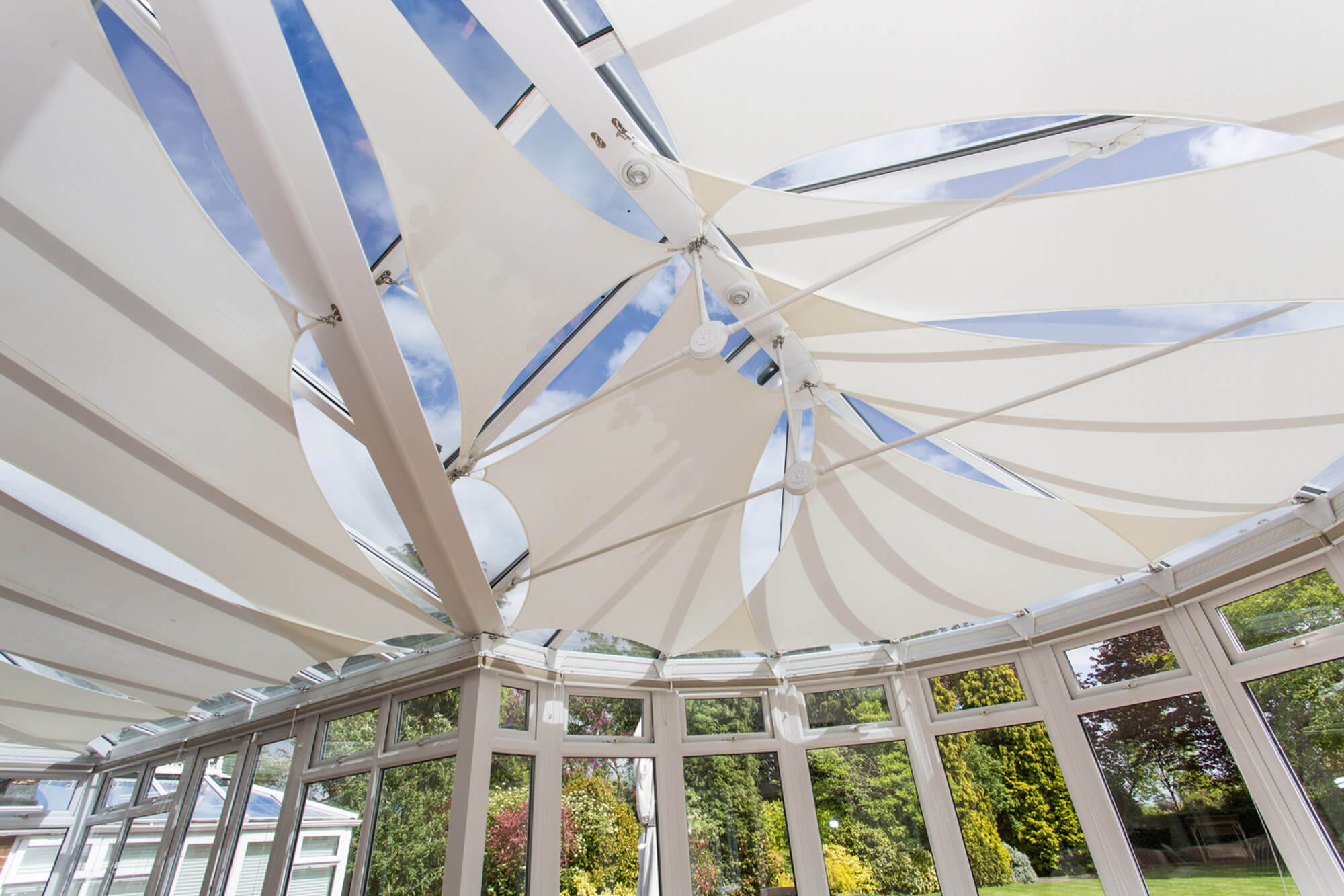 A simple and effective modern alternative to pleated roof blinds