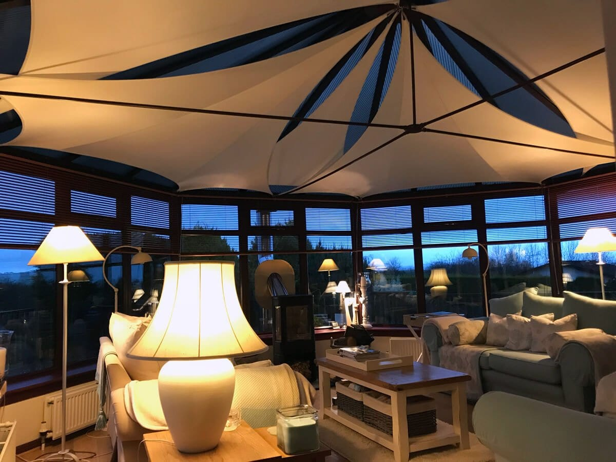Enhance the look and performance of your polycarbonate roof with InShade DIY sail blinds