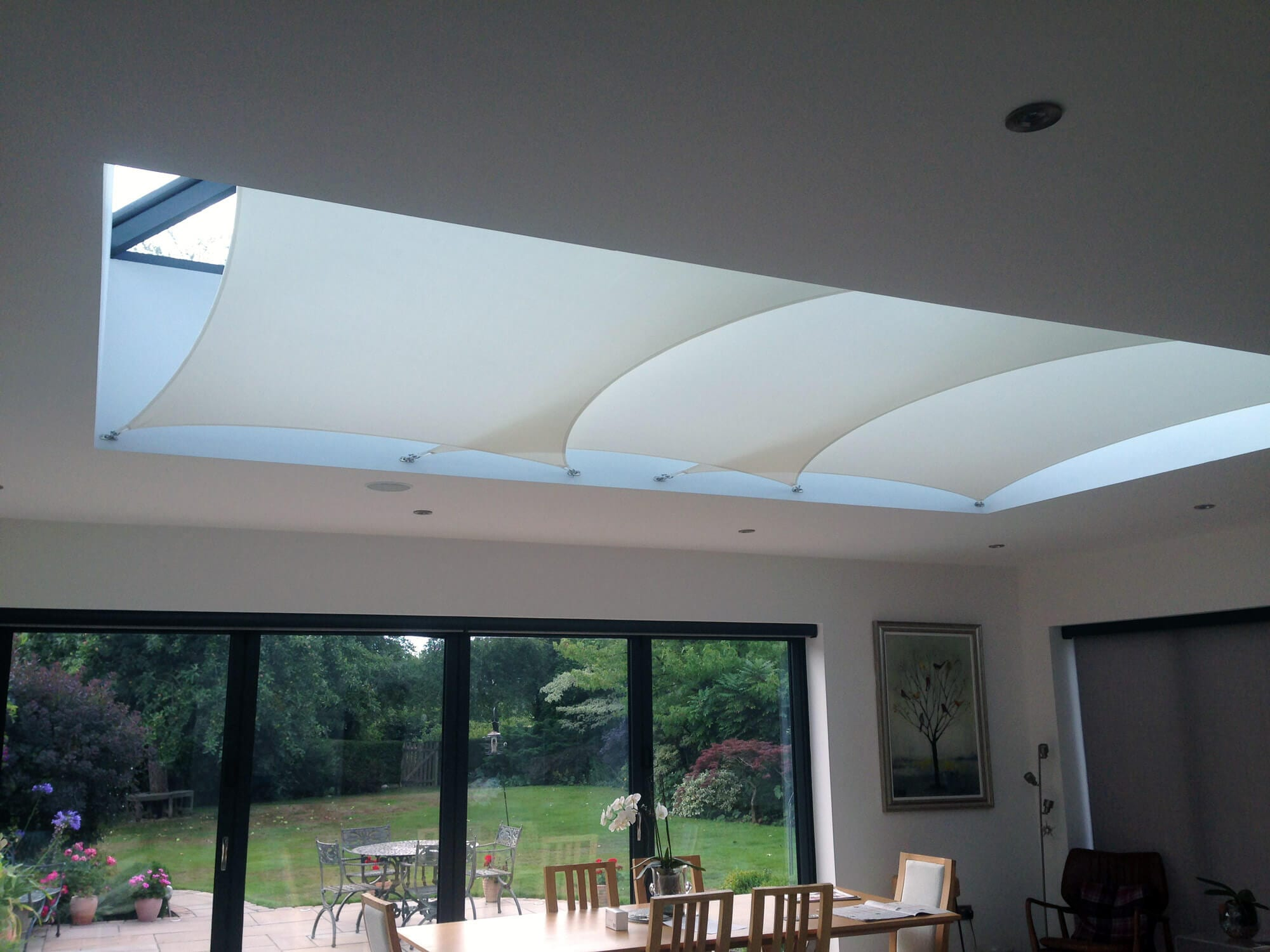 InShade sail blinds, the modern solution for roof lantern shade